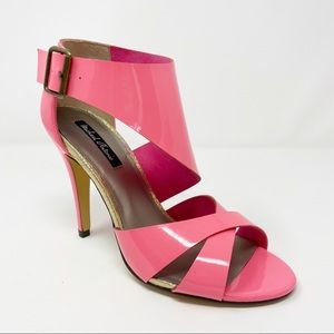 MICHAEL ANTONIO Hot Pink Patent Leather Heels 7